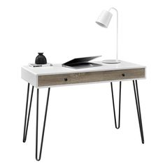 altra owen whitesonoma oak retro student desk altra furniture owen student writing desk multiple