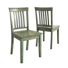 Richly grained, durable rubberwood makes the Weston Home Lexington Mission Back Dining Side Chair - Set of 2 a wise purchase in terms of style and. Ladder Back Dining Chairs, Rustic Dining Chairs, Dining Chair Set, Side Chairs, Wooden Chairs, Primitive Dining Rooms, Primitive Kitchen, Country Furniture, Kitchen Furniture