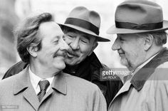 French actors Jean Rochefort JeanPierre Marielle and Philippe Noiret Jean Rochefort, France, Celebs, Celebrities, Theatre, Beautiful People, Actors, Black And White, Couple Photos