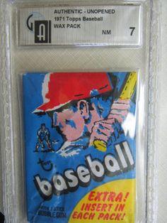 1971 Topps Baseball  Unopened Wax Pack Graded 7 NM
