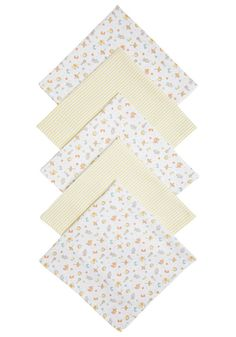 Clothing at Tesco   F&F 5 Pack of Toybox Print Muslin Squares > accessories > Baby Girls > Baby