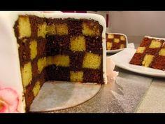 ▶ Checkerboard cake cubierto con fondant | Tartas de fondant por Azúcar con Amor - YouTube