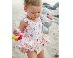 Romper sewing pattern Rose Bud Romper pdf romper sewing