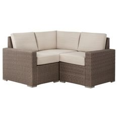 Threshold™ Heatherstone 3-piece Wicker Patio Sectional Seating Furniture Set…