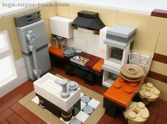 Legos, Lego Furniture, Minecraft Furniture, Lego Kitchen, Lego Burg, Construction Lego, Lego Display, Amazing Lego Creations, Lego Pictures