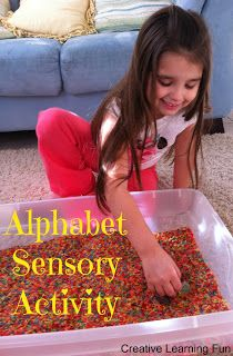 Alphabet Sensory Activity from Creative Learning Fun