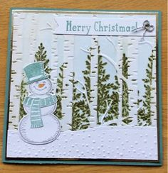 Stampin' Up Snow Place bundle, Lovely As A Tree, Woodland E F (Nov 16, 2015)