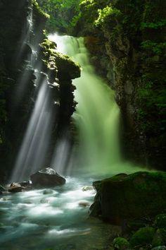 スッカン沢、滝、那須塩原、栃木/Yuhi Waterfall, Sukkansawa, Nasushiobara, Tochigi, Japan