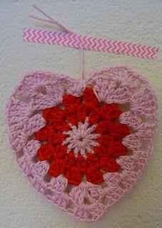 Crochet valentines hart