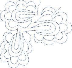 Quilting Background Filler continous line motif xxx