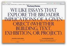 My company is working with some good people over at the Office of Publications at Columbia University's GSAPP on a new digital publication. Can't show much except for this temporary page but stay tuned!