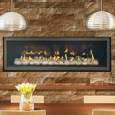 LHD50 Modern Gas Fireplace by Napoleon Linear Glass