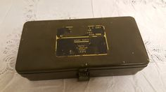 Vintage U.S. Army Signal Corps Spare Parts Case by PlethoraOfJunk