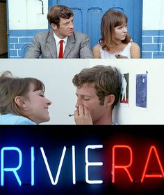 Pierrot Le Fou with Anna Karina and Jean-Paul Belmondo #nouvelle vague #French New Wave #film