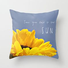 Pillow Cover Sunflower Photo Pillow Floral Pillow by StudioClaire, $35.00