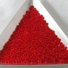 20 Grams Size 11/0 Miyuki Japanese Glass Seed Beads Transparent Red via Etsy