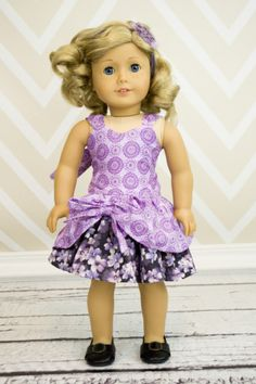 Poppy's Peekaboo Dress Doll Size PDF Pattern | YouCanMakeThis.com