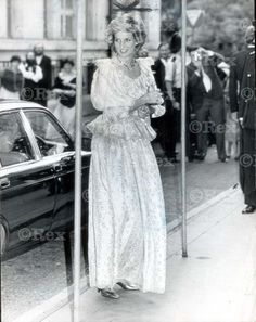 June 26, 1985:  Princess Diana at a Commonwealth Press Union Dinner at Goldsmith's Hall.