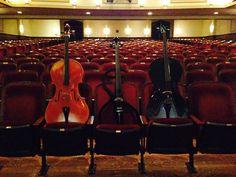 Even cellos enjoy front row seats :)