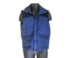 Puffy Vest Winter Vest Ski Vest Retro Ski Men by #ShineBrightVintage