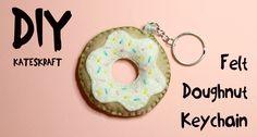 kateskraft: DIY - Felt Doughnut Keychain - Youtube Tutorial