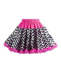 Another great find on #zulily! Pink & Black Zigzag Pettiskirt - Toddler & Girls #zulilyfinds