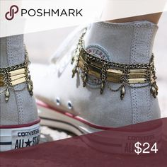 Free People bronze anklets New with tags  Has extenders. Comes with two matching anklets Free People Jewelry Bracelets