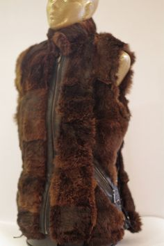 Wild Real Rabbit Fur Woman Vest by TeddyGdesign on Etsy