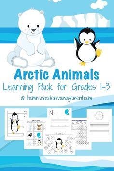 Arctic Animals Free Printables: Free Printable Pack and Unit Study for Grades 1-3