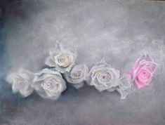 """roses et poésie"". pastel sec. Pastels, Creations, Roses, Crown, Jewelry, Corona, Jewlery, Pink, Bijoux"