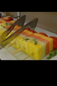 Luau party fruitsicles