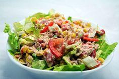 Salata de ton Healthy Salad Recipes, Healthy Food, Kung Pao Chicken, Cobb Salad, Seafood, Cooking, Ethnic Recipes, Diet, Salad