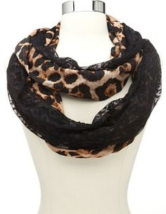 Leopard & Lace Infinity Scarf: Charlotte Russe