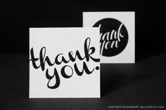 Free Printable: Calligraphic Thank You Cards @ mintedstrawberry.blogspot.com <--- These were awesome! Thank you, Aki!