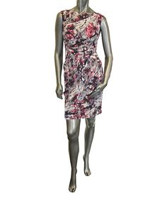 Take a look at this Pink Floral Perspective Dress by Vince Camuto on #zulily today!