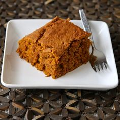 """Vegan Pumpkin Pie Blondies 