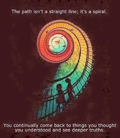 Sometimes we return to something for a deeper understanding via @MindfulnessIreland | #spiral #perspective Pinned by www.drmelindadouglass.com
