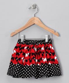 Black Scottie Dog Reversible Skirt (cotton 36)