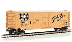 This  N scale Frisco 50' Plug Door Box Car is now shipping in clear plastic boxes for display and storage convenience.  Click http://www.livelocomotion.com/product/BAC71075 to get your box car today for $14.50.