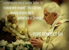 Pope Emeritus Benedict XVI. Catholic. Christmas