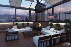 Терраса с камином: интерьер, квартира, дом, современный, модернизм, балкон, лоджия, терраса, 20 - 30 м2 #interiordesign #apartment #house #modern #balcony #loggia #terrace #20_30m2 arXip.com