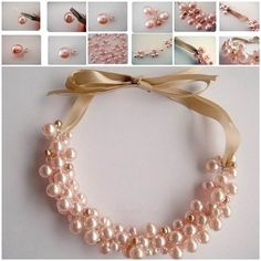 Elegant Pearl Cluster Necklace #DIY #fashion #necklace