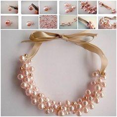 DIY Elegant Pearl Cluster Necklace 3
