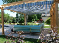 Retractable Pergola Canopy in Oakville 2