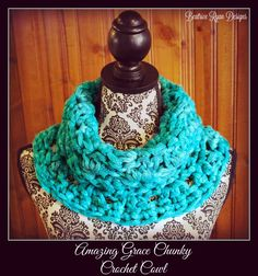 Amazing Grace Chunky Cowl, free crochet pattern by Beatrice Ryan Designs