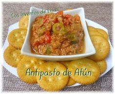 Another recipe that can not miss in our festivities. You can also prepare this antipasto from chicken or turkey. 2 cans. Puerto Rican Dishes, Puerto Rican Cuisine, Puerto Rican Recipes, Cuban Cuisine, Antipasto Recipes, Antipasto Salad, Appetizer Recipes, Appetizers, Appetizer Party