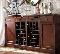 Modular Bar Buffet with 2 Wine Bases & 2 Cabinets #potterybarn