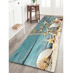 Nautical Starfish Print Flannel Skid Resistant Bathroom Rug
