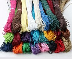 Free shipping 20 Color 200 Meters (each color 10m ) Mixed Color Waxed Cotton Beading Cord Rope 1mm For Bracelet Necklace B00442