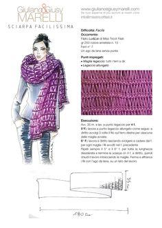 Facilissimo Knit 'n Crochet Crochet Blouse, Crochet Scarves, Knit Crochet, Loom Knitting Projects, Easy Knitting, Shawl Patterns, Knitting Patterns, Crochet Wrap Pattern, Crochet Shawls And Wraps